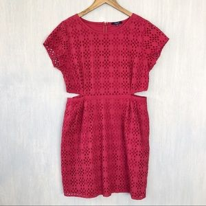 Madewell Eyelet Happening Cutout dress 12
